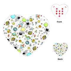 Space Pattern Playing Cards (heart)