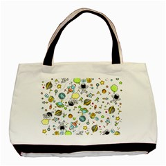 Space Pattern Basic Tote Bag