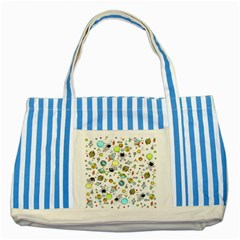 Space Pattern Striped Blue Tote Bag
