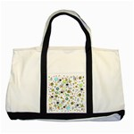 Space Pattern Two Tone Tote Bag Front