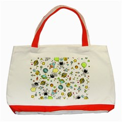 Space Pattern Classic Tote Bag (red)