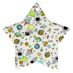 Space Pattern Star Ornament (two Sides)