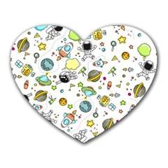 Space Pattern Heart Mousepads