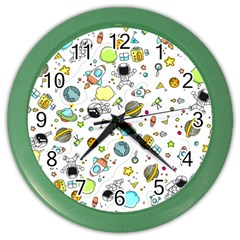 Space Pattern Color Wall Clocks