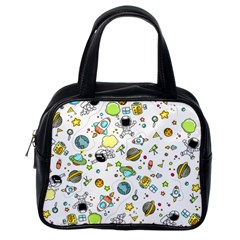Space Pattern Classic Handbags (one Side)
