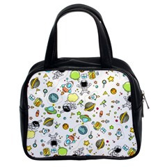 Space Pattern Classic Handbags (2 Sides)
