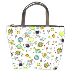 Space Pattern Bucket Bags