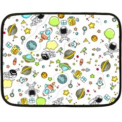 Space Pattern Double Sided Fleece Blanket (mini)