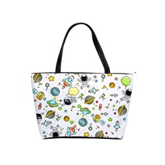 Space Pattern Shoulder Handbags