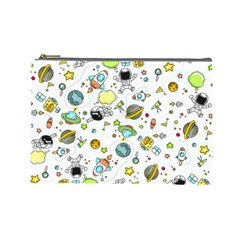 Space Pattern Cosmetic Bag (large)