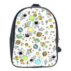 Space Pattern School Bag (large)