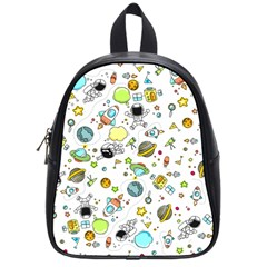Space Pattern School Bag (small)