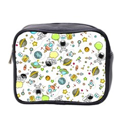 Space Pattern Mini Toiletries Bag 2 Side
