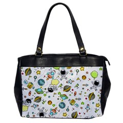 Space Pattern Office Handbags