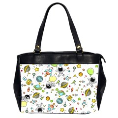 Space Pattern Office Handbags (2 Sides)