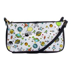 Space Pattern Shoulder Clutch Bags