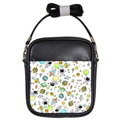 Space Pattern Girls Sling Bags