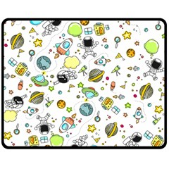 Space Pattern Fleece Blanket (medium)