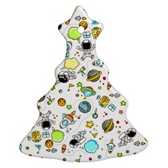 Space Pattern Christmas Tree Ornament (two Sides)