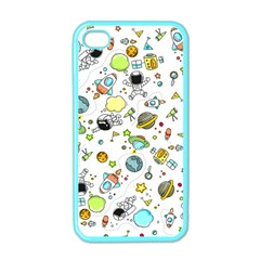 Space Pattern Apple Iphone 4 Case (color)
