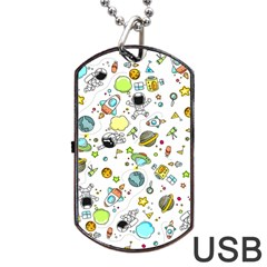 Space Pattern Dog Tag Usb Flash (two Sides)