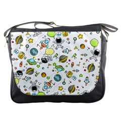 Space Pattern Messenger Bags