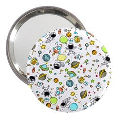 Space Pattern 3  Handbag Mirrors