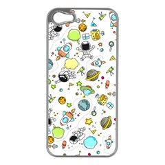 Space Pattern Apple Iphone 5 Case (silver)