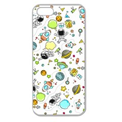 Space Pattern Apple Seamless Iphone 5 Case (clear)