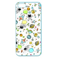 Space Pattern Apple Seamless Iphone 5 Case (color)