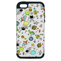 Space Pattern Apple Iphone 5 Hardshell Case (pc+silicone)