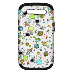 Space Pattern Samsung Galaxy S Iii Hardshell Case (pc+silicone)