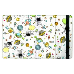 Space Pattern Apple Ipad 2 Flip Case