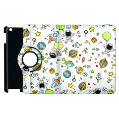 Space Pattern Apple Ipad 2 Flip 360 Case