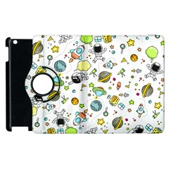Space Pattern Apple Ipad 3/4 Flip 360 Case