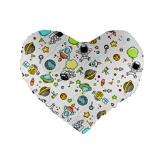Space Pattern Standard 16  Premium Heart Shape Cushions