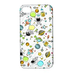 Space Pattern Apple Iphone 4/4s Hardshell Case With Stand