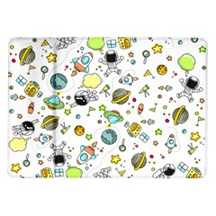 Space Pattern Samsung Galaxy Tab 10 1  P7500 Flip Case