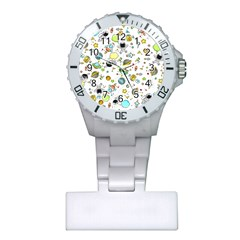 Space Pattern Plastic Nurses Watch