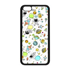 Space Pattern Apple Iphone 5c Seamless Case (black)