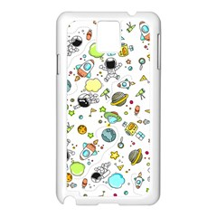 Space Pattern Samsung Galaxy Note 3 N9005 Case (white)