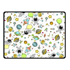 Space Pattern Double Sided Fleece Blanket (small)