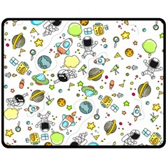 Space Pattern Double Sided Fleece Blanket (medium)