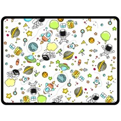 Space Pattern Double Sided Fleece Blanket (large)
