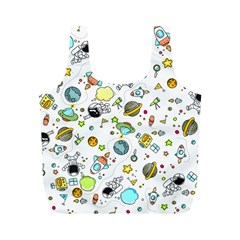 Space Pattern Full Print Recycle Bags (m)