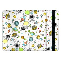 Space Pattern Samsung Galaxy Tab Pro 12 2  Flip Case