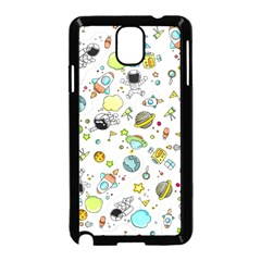 Space Pattern Samsung Galaxy Note 3 Neo Hardshell Case (black)