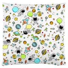 Space Pattern Large Flano Cushion Case (two Sides)