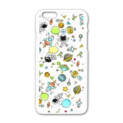 Space Pattern Apple Iphone 6/6s White Enamel Case