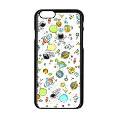 Space Pattern Apple Iphone 6/6s Black Enamel Case